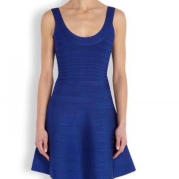 6617d5906931 Hervé Leger Royal Blue Eva Cocktail Dress